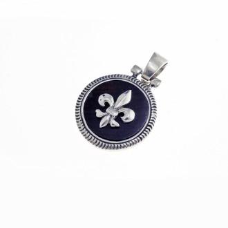 Fleur de lis sterling silver pendant |El Boyero