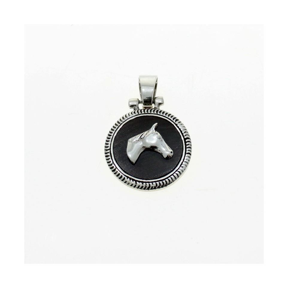 Horse head sterling silver pendant |El Boyero