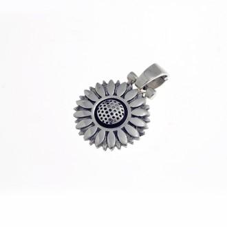 Sunflower sterling silver pendant |El Boyero