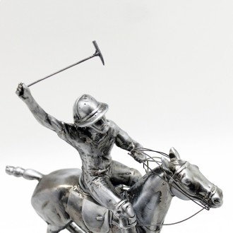 Small polo horse pewter plated statuette |El Boyero