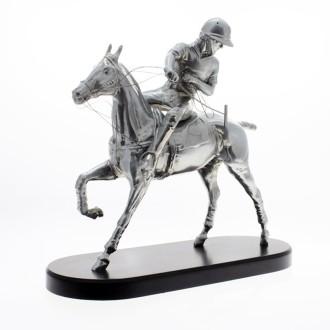 Polo horse pewter plated statuette |El Boyero
