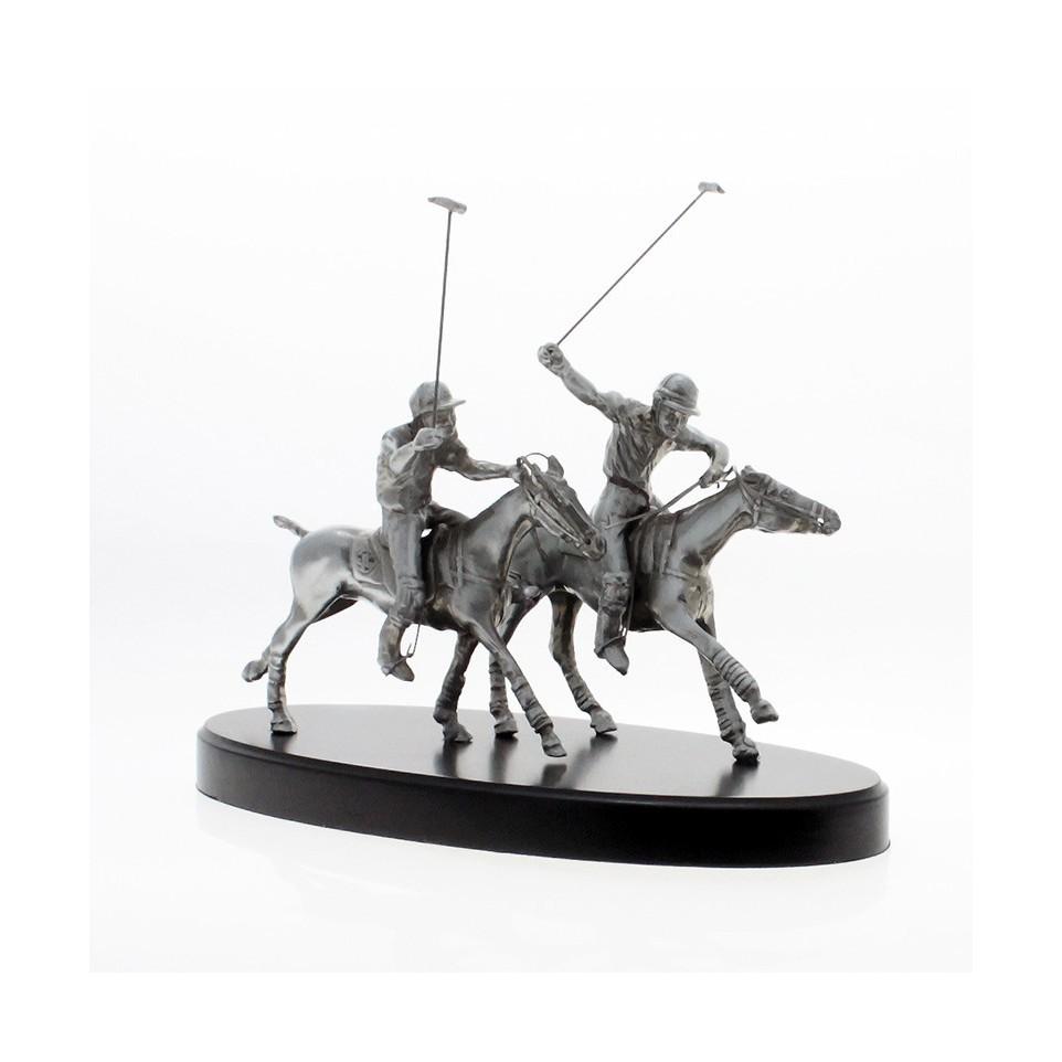 Jugadores de Polo - Estatuilla Artesanal