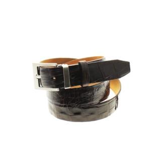 Black crocodile leather belt |El Boyero