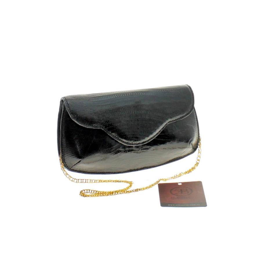 Lizard leather clutch