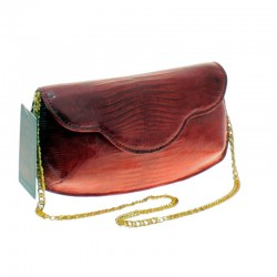 Lizard leather clutch