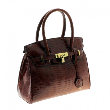 Lizard leather purse Birkin style