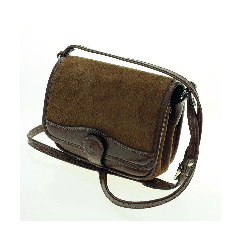 Capybara and cow leather crossbody ractangular purse