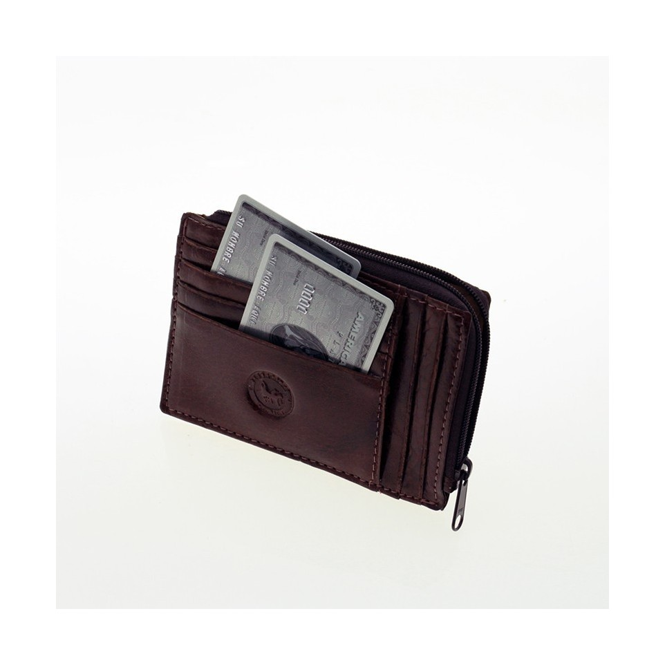 Cards holder with zipper