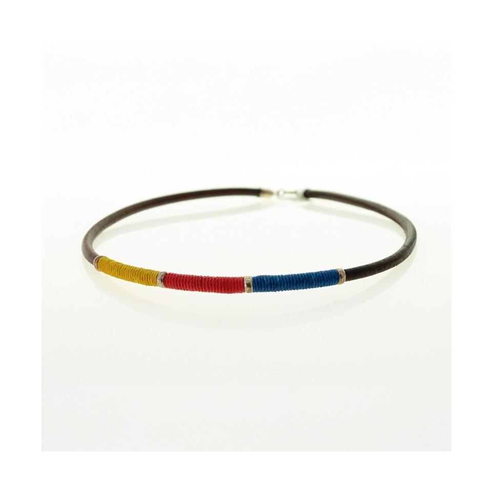 Leather and waxed thread necklace |El Boyero