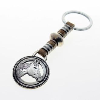 Horse head leather keychain |El Boyero