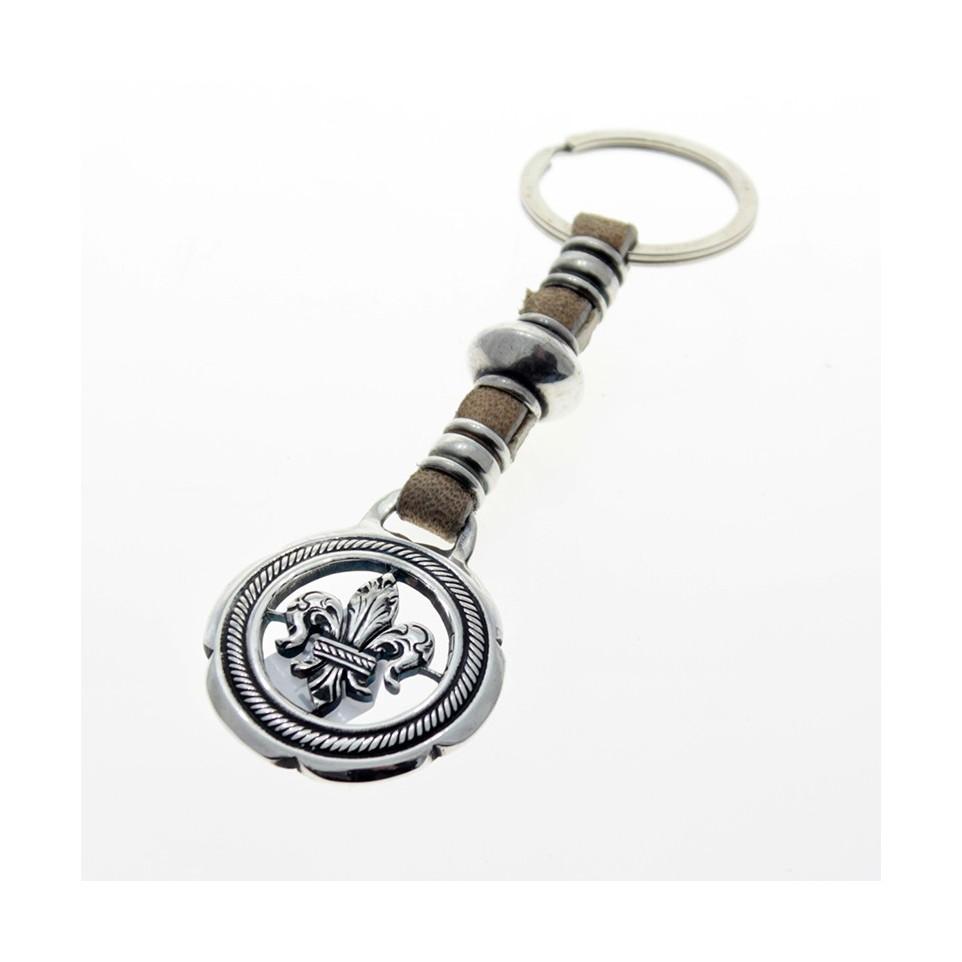 Fleur de lis leather keychain |El Boyero