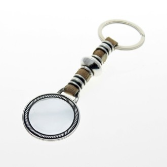 Plain medal leather keychain |El Boyero