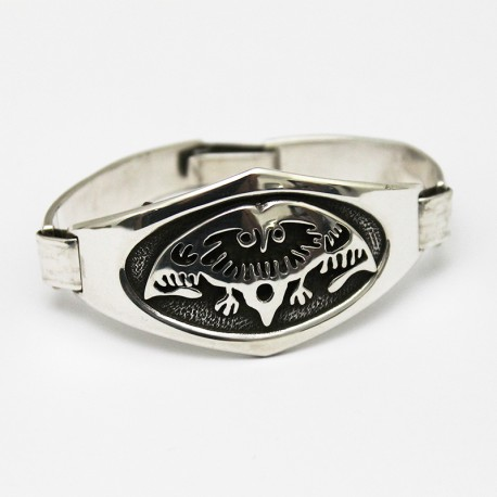 "Sterling silver bracelet ""woman crying"" design 