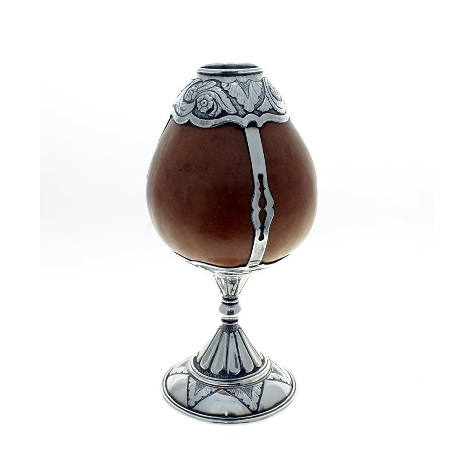 Mate of gourd and sterling silver small cup shape |El Boyero