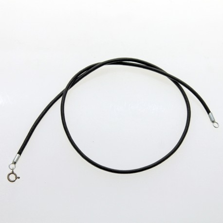 Leather and sterling silver necklace