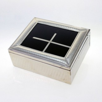 4 compartments nickel silver tea box |El Boyero