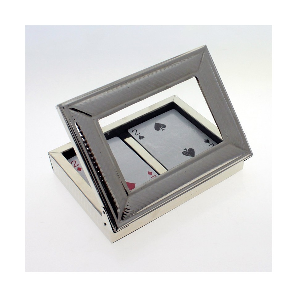 Nickel silver box with playing cards |El Boyero