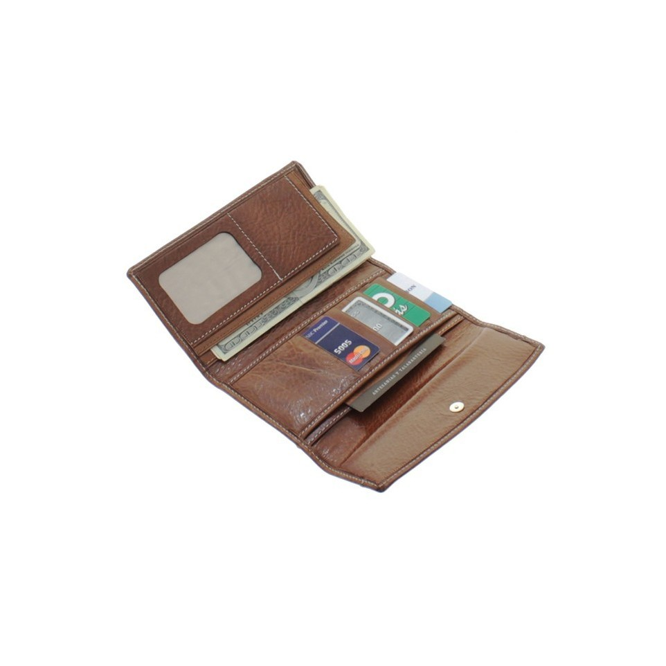 Women fold over leather wallet