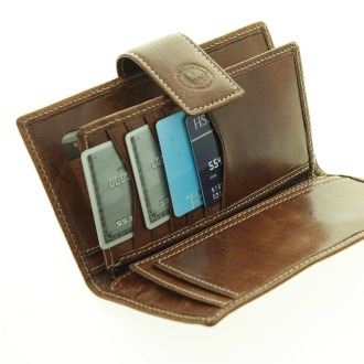 Soft cow leather womens wallet