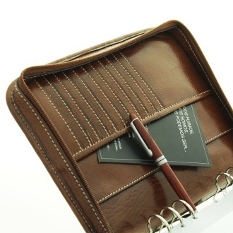 Cow leather diary organizer folder |El Boyero