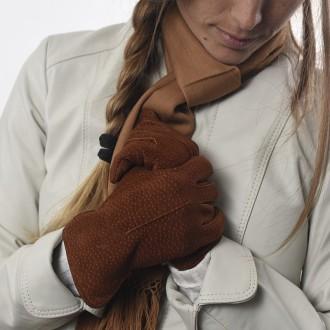 Capybara leather womens gloves
