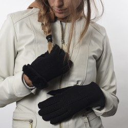 Capybara womens gloves with fur |El Boyero
