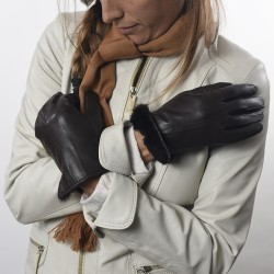 Goat leather lady gloves with fur |El Boyero