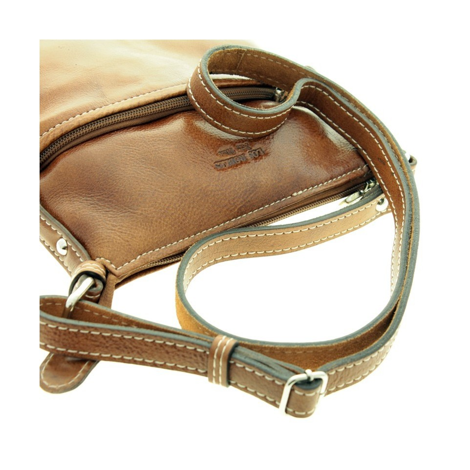 Cow leather crossbody square purse