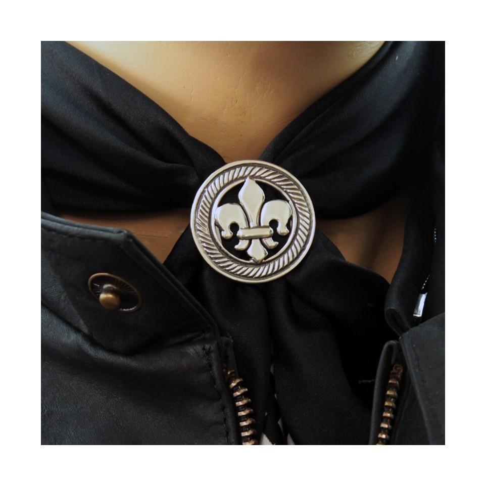 Fleur de lis scarf ring |El Boyero