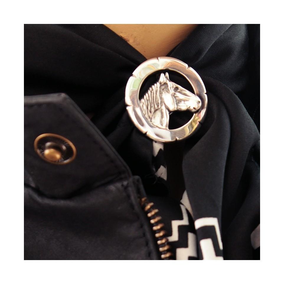 Horse design scarf ring