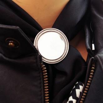 Plain medal scarf ring |El Boyero