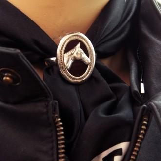 Horse head sterling silver scarfring |El Boyero