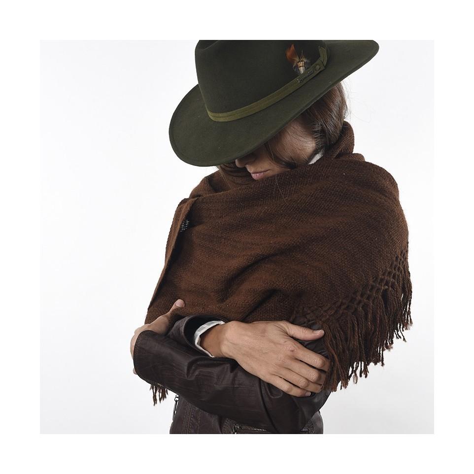Loom woven llama scarf