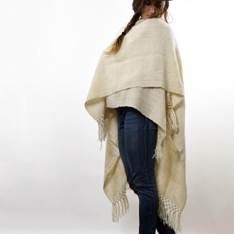 Ruana tejida con lana de llama |El Boyero
