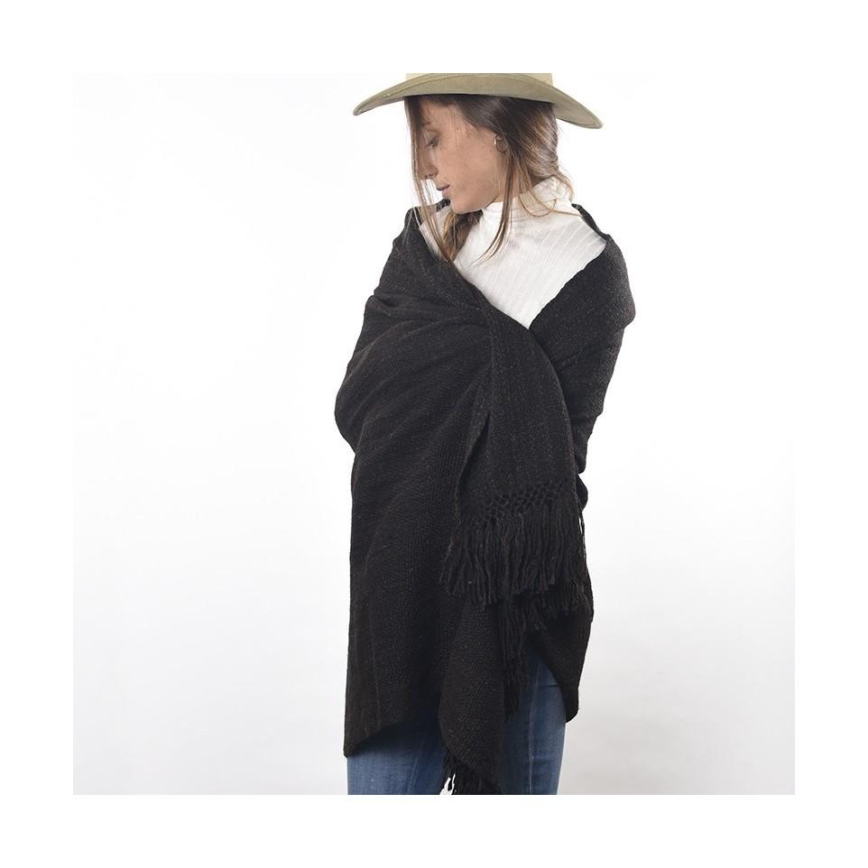 Llama knitted shawl