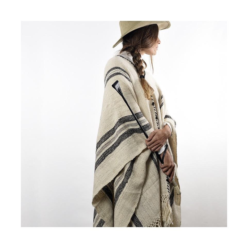 Llama knitted poncho