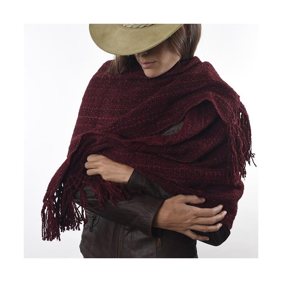 Chalina tejida con lana de llama teñida |El Boyero