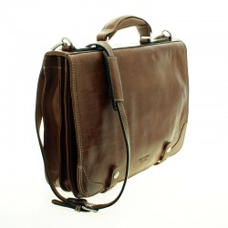Cow leather briefcase with clasps closure |El Boyero