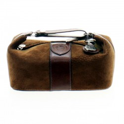 Capybara leather toiletry bag with handle |El Boyero