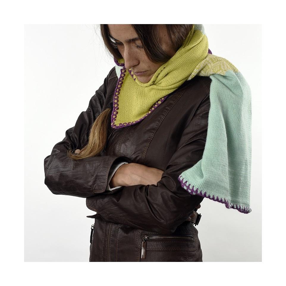 Chalina tejida con lana de llama y merino |El Boyero