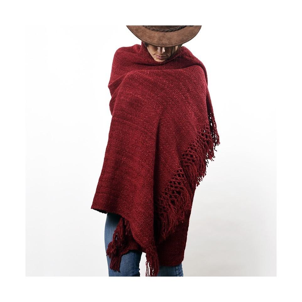 Manta tejida con lana de llama teñida |El Boyero