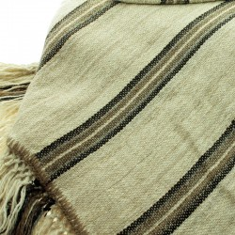 Llama knitted blanket