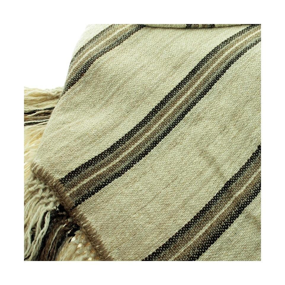 Cubrecama de dos plazas tejido con lana de llama |El Boyero
