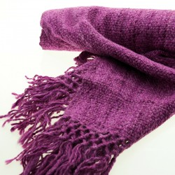 Dyed llama knitted scarf
