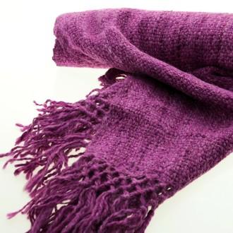 Dyed llama knitted scarf |El Boyero