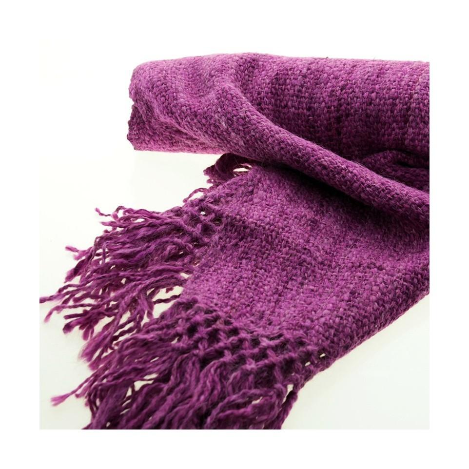 Bufanda tejida con lana de llama teñida |El Boyero