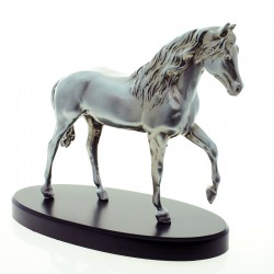 Arab horse pewter plated statuette