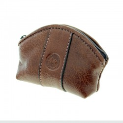 Soft cow leather coin pouch