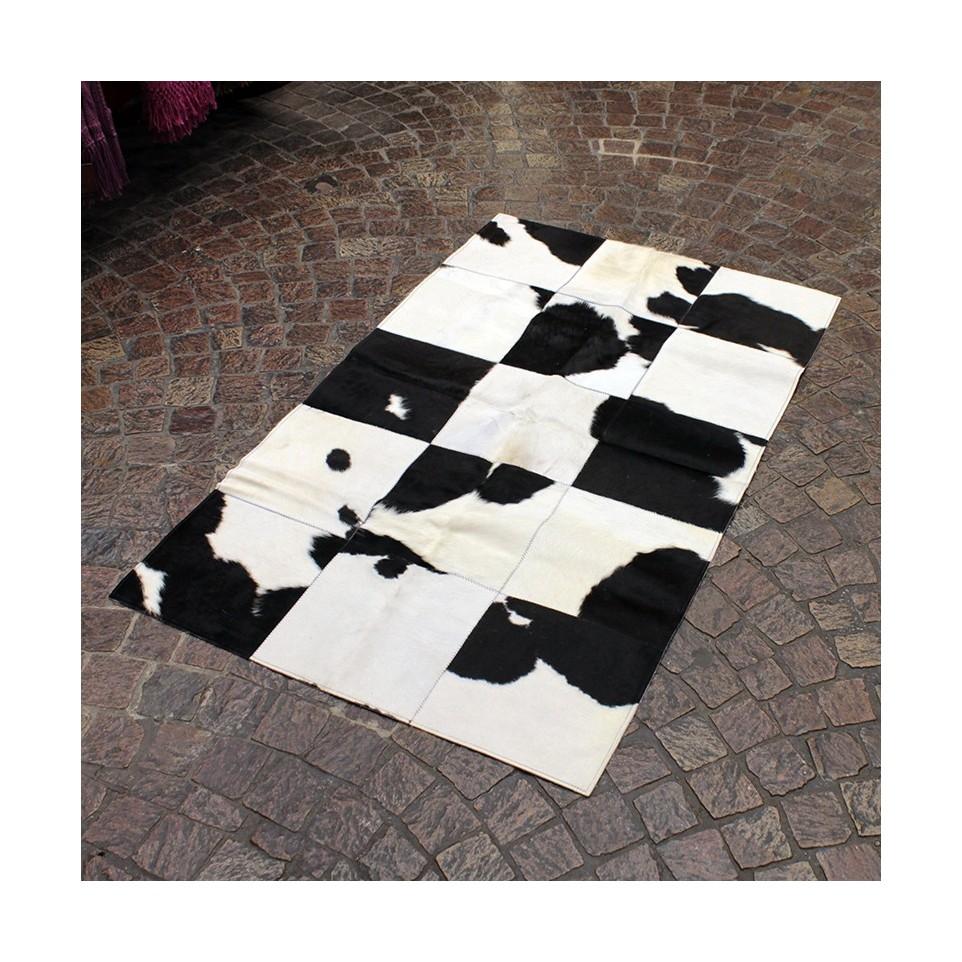 Costado de cama de piel de vaca
