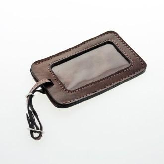 Identificador para equipaje de cuero. Marbete |El Boyero